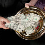 cash in church offering plate
